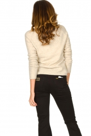American Vintage |  Knitted slim fit sweater Damsville | natural  | Picture 7