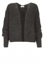 American Vintage |  Short knitted cardigan East | darkgrey  | Picture 1