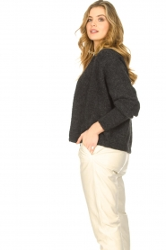 American Vintage |  Short knitted cardigan East | darkgrey  | Picture 5