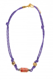Prayer Accessories | Prayer box necklace | purple  | Picture 1