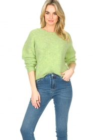 American Vintage :  Sweater with dropped sleeve East | green - img4