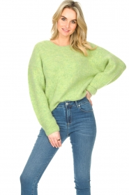 American Vintage :  Sweater with dropped sleeve East | green - img2