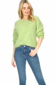 American Vintage :  Sweater with dropped sleeve East | green - img5
