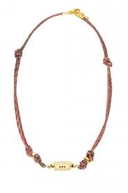 Prayer Accessories | Prayer box necklace | pink\black  | Picture 1