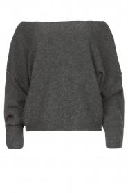 American Vintage |  Knitted sweater Damsville | dark grey  | Picture 1