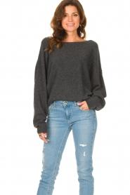 American Vintage |  Knitted sweater Damsville | dark grey  | Picture 2