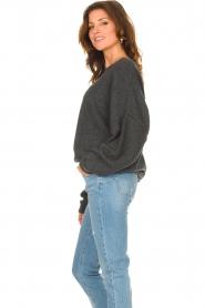 American Vintage |  Knitted sweater Damsville | dark grey  | Picture 5