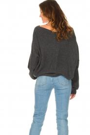 American Vintage |  Knitted sweater Damsville | dark grey  | Picture 6