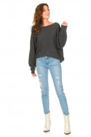 American Vintage |  Knitted sweater Damsville | dark grey  | Picture 3