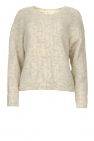 American Vintage |  Sweater with dropped sleeve East | beige  | Picture 1