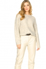 American Vintage |  Sweater with dropped sleeve East | beige  | Picture 5