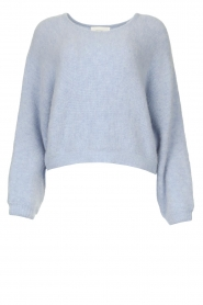 American Vintage |  Knitted sweater with bat sleeves East | blue  | Picture 1