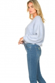 American Vintage |  Knitted sweater with bat sleeves East | blue  | Picture 6