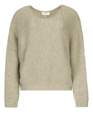 American Vintage |  Sweater with dropped sleeve East | grey