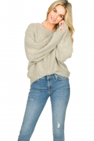 American Vintage |  Sweater with dropped sleeve East | grey  | Picture 4