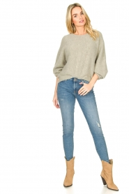 American Vintage |  Sweater with dropped sleeve East | grey  | Picture 3