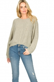 American Vintage |  Sweater with dropped sleeve East | grey  | Picture 2