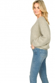 American Vintage |  Sweater with dropped sleeve East | grey  | Picture 5