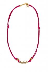 Prayer Accessories | Prayer box necklace | fuchsia  | Picture 1