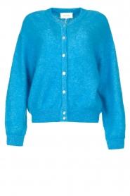 American Vintage |  Buttoned cardigan Zabidoo | blue  | Picture 1