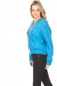 American Vintage |  Buttoned cardigan Zabidoo | blue  | Picture 5