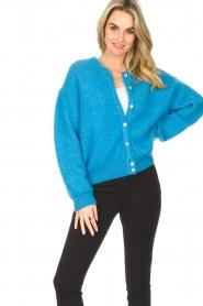 American Vintage |  Buttoned cardigan Zabidoo | blue  | Picture 4