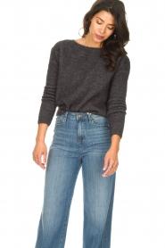 American Vintage |  Knitted sweater Zabidoo | dark grey  | Picture 4