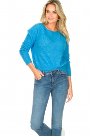 American Vintage |  Knitted sweater Zabidoo | blue  | Picture 4