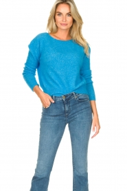 American Vintage |  Knitted sweater Zabidoo | blue  | Picture 2