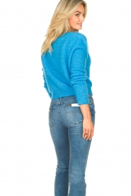 American Vintage |  Knitted sweater Zabidoo | blue  | Picture 6