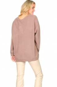 American Vintage :  Knitted sweater with v-neck Kybird | brown - img6