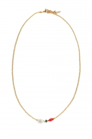 Prayer Accessories |  Necklace with pearl Jade | gold  | Picture 1