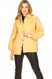 American Vintage |  Woolen jacket Zalirow | yellow  | Picture 2