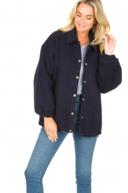 American Vintage |  Woolen jacket Zalirow | navy  | Picture 4