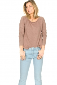 American Vintage |  Basic cotton T-shirt Sonoma | brown  | Picture 3