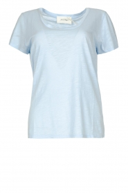 American Vintage |  Basic T-shirt with round neck Jacksonville | light blue