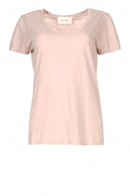 American Vintage |  Basic T-shirt with round neck Jacksonville | soft pink