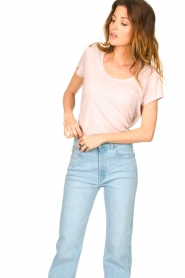 American Vintage |  Basic T-shirt with round neck Jacksonville | soft pink  | Picture 3