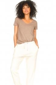American Vintage |  Basic V-neck T-shirt Jacksonville | brown  | Picture 4