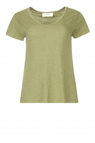 American Vintage |  Basic V-neck T-shirt Jacksonville | green  | Picture 1