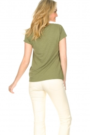 American Vintage |  Basic V-neck T-shirt Jacksonville | green  | Picture 5