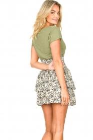 American Vintage |  Basic V-neck T-shirt Jacksonville | green  | Picture 5