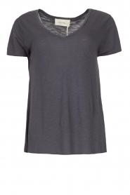 American Vintage |  Basic V-neck T-shirt Jacksonville | blue  | Picture 1