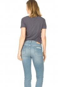 American Vintage |  Basic V-neck T-shirt Jacksonville | blue  | Picture 6