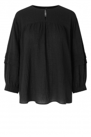 Second Female |  Blouse with crêpe effect Mallorca | black  | Picture 1