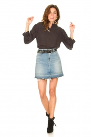 Second Female |  Blouse with crêpe effect Mallorca | black  | Picture 3