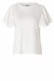 Second Female |  Basic top with ruffles Fillippa | white  | Picture 1