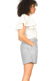 Second Female |  Basic top with ruffles Fillippa | white  | Picture 6