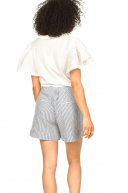 Second Female |  Basic top with ruffles Fillippa | white  | Picture 7