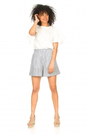 Second Female |  Basic top with ruffles Fillippa | white  | Picture 3